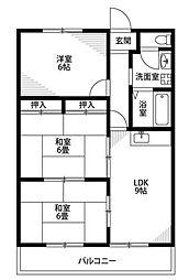 笠井ハイツ[5階]の間取り