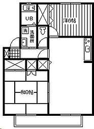 サーフスリィ吉村[203号室]の間取り