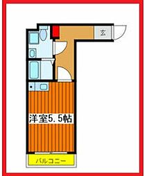 ザ・レジデンス田端 5階ワンルームの間取り