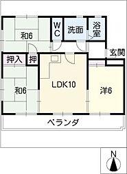 ウィング生田[1階]の間取り