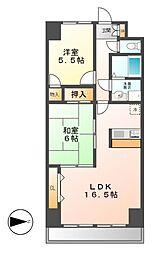 松重スカイマンション3[4階]の間取り