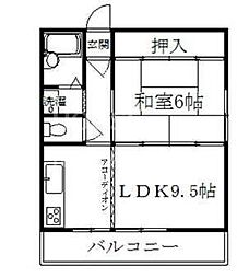 ドミール松田[40C号室号室]の間取り