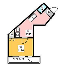 ディモーラアイカ[2階]の間取り