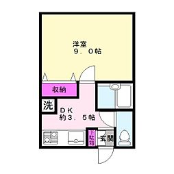 マンション市原姉崎中央[103号室]の間取り