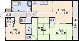 川成431[303号室]の間取り