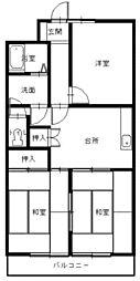ハイツ新目覚[4階]の間取り