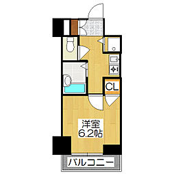 リーガル京都御所西1[703号室]の間取り