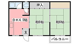 福岡マンション[303号室]の間取り