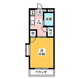 グリーンパーク賞田[2階]の間取り