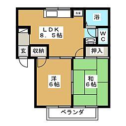 ファミールトーク[1階]の間取り