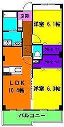 静岡県浜松市南区寺脇町の賃貸マンションの間取り