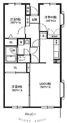 エスポワール新座[205号室]の間取り