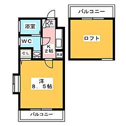ピュアドーム博多21[10階]の間取り