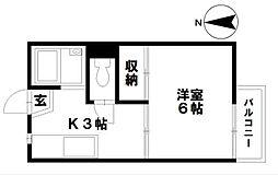 石川県金沢市三馬3丁目の賃貸アパートの間取り