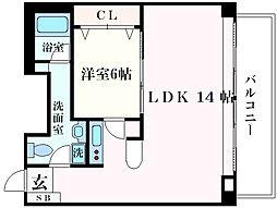 神戸新交通六甲アイランド線 アイランドセンター駅 徒歩5分の賃貸マンション 11階1LDKの間取り