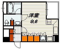 リーガル京都四条烏丸[303号室]の間取り