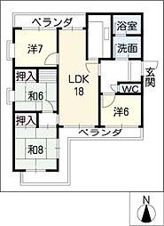 Vip−in太平洋[2階]の間取り