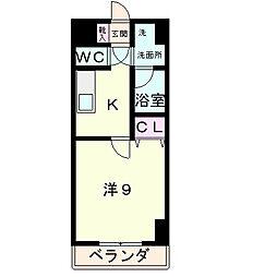 滋賀県草津市東矢倉2の賃貸マンションの間取り