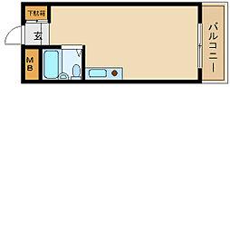 ジュネス船原[2階]の間取り