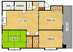 11KAWAI[204号室]の間取り