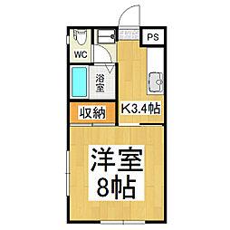 ハイツイースト B棟[2階]の間取り