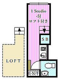 モア1[1階]の間取り