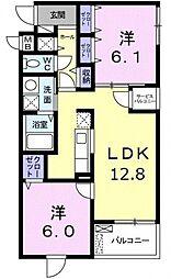 グリーンフルハウス[3階]の間取り