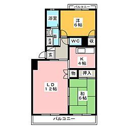 花ノ木パークハイツ[1階]の間取り