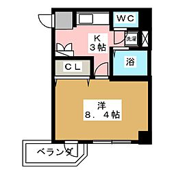 コットンK[3階]の間取り