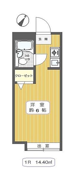 キャピタル中川[2階]の間取り