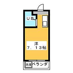プチハイツ八幡[3階]の間取り