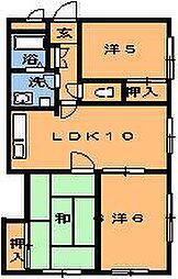 ピュア西都賀[303号室]の間取り