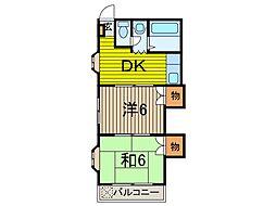埼玉県川口市芝2丁目の賃貸マンションの間取り