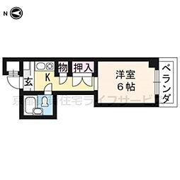 大藤マンション[3-B号室]の間取り