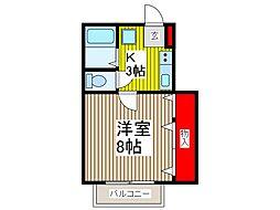 シェモア[2階]の間取り