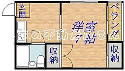 レジデンスパート1[2階]の間取り