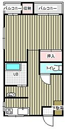 八幡屋ビル[47号室号室]の間取り