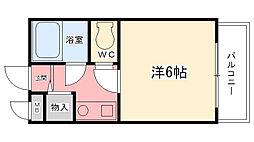 兵庫県西宮市津門西口町の賃貸マンションの間取り