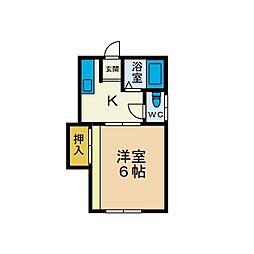 サンシャイン毛利台[2階]の間取り