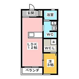 コミーテ六条[1階]の間取り