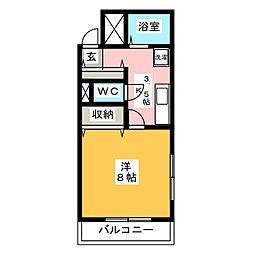 高島屋マンションII[3階]の間取り