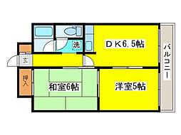 北海道札幌市東区北二十五条東6丁目の賃貸マンションの間取り