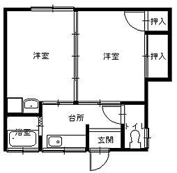 長崎県長崎市桜木町の賃貸アパートの間取り