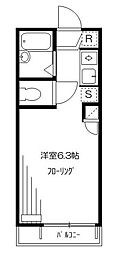 東京都新宿区若松町の賃貸アパートの間取り