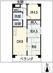 高針中央マンション[5階]の間取り