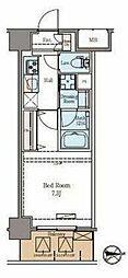 東京メトロ日比谷線 仲御徒町駅 徒歩6分の賃貸マンション 4階1Kの間取り