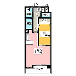 サンモール新道[7階]の間取り