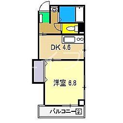 ネオクレメント[2階]の間取り