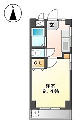 秋山ハイツ[3階]の間取り
