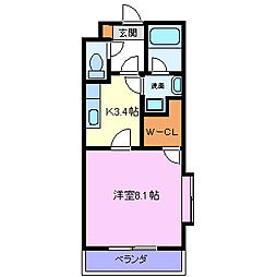 柳畑アラク[3階]の間取り
